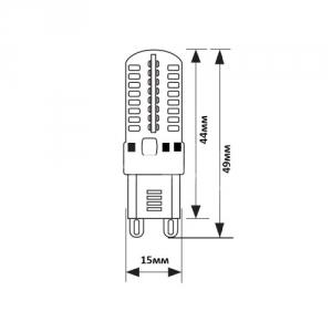 LED G9  димируемая 3W 220V, 4000К