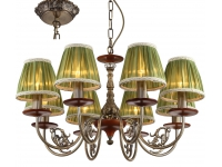 Люстра INL-6117P-08 Antique brass & Walnut
